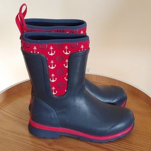 Muck Anchor Print Waterproof Boots Navy Boots